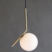 吊灯 客厅灯北欧创意玻璃单头小吊灯简约餐厅卧室床头LED灯饰
