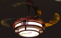 FSD-2447中式红色古典花纹风扇灯