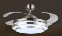 FSD-2931 现代简约光面银环风扇灯