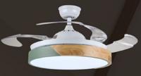 FSD-L12 圆形简约木纹风扇灯