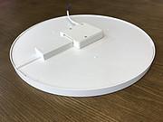 简约白色圆形薄碟板灯