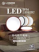 LED简约三防吸顶灯