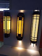 简约中式户外长筒壁灯