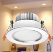 简约银白色铝边LED压铸筒灯