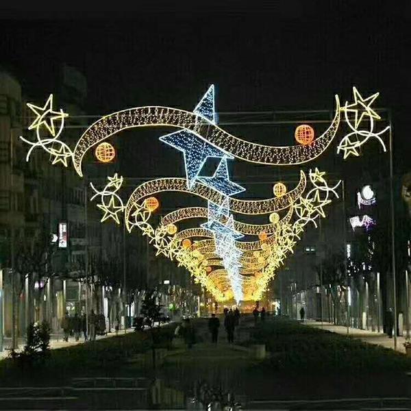 LED节日景观跨街灯画