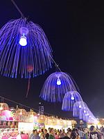 户外吊挂节日景观水母灯