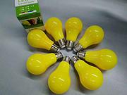 黄色简约光面塑包铝多尺寸LED球泡