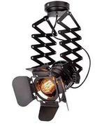 黑色挡光板可调节轨道灯 暖光