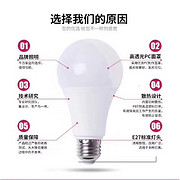 A款白色高透光PC面罩E27标准LED球泡