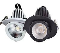 升级款个性白色可调节光束筒灯