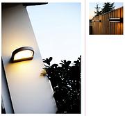 半弧形上下发光暖光户外壁灯