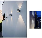 不锈钢圆柱上下发光户外壁灯