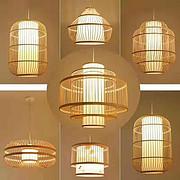 多款式新中式简易创意竹编吊灯