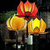 新中式创意布艺荷花吊灯