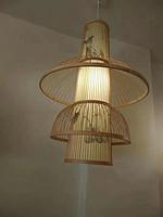 新中式创意竹编餐厅茶室吊灯