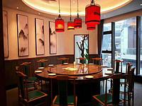 新中式东方红鸟笼饭馆吊灯