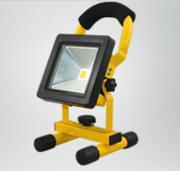 黄色厚边款LED COB手提探照灯