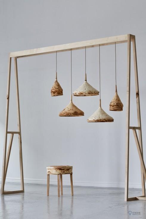 吊灯,用蘑菇来制造的灯具……对 看着就很好吃的样子!