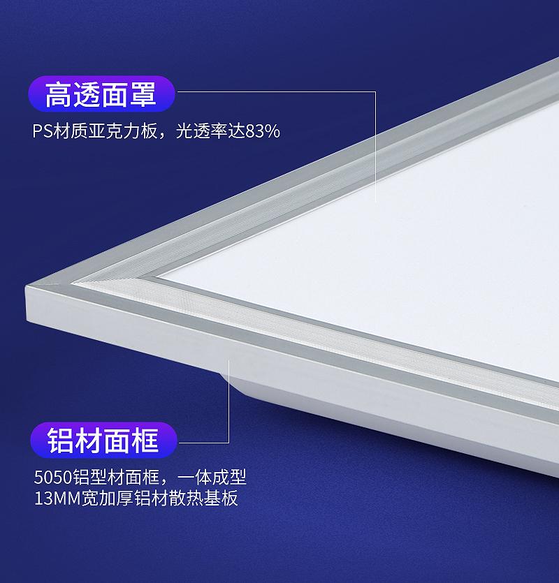辉仕铝材面框led平板灯